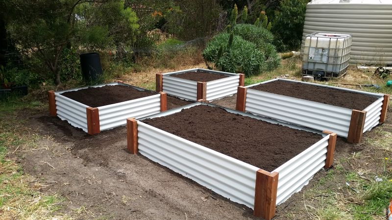 Raised Garden Bed installation