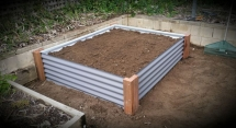Raised Colourbond Garden Bed completed