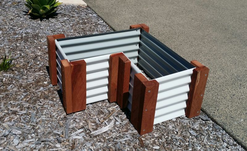Raised Galvinised Colourbond Garden Beds made to order